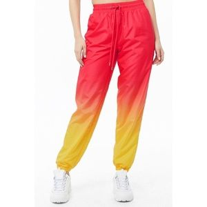 Forever21™️ NWOT Pink-Yellow Ombré Wind-Pants.